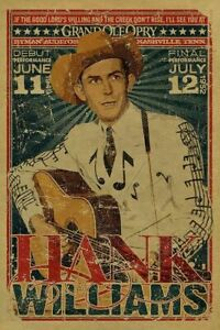 HANK WILLIAMS Grand Ole Opry METAL TIN SIGN POSTER WALL PLAQUE