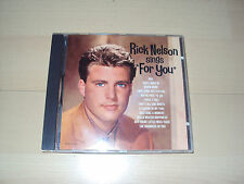 "CD  RICK NELSON sings ""for you"""