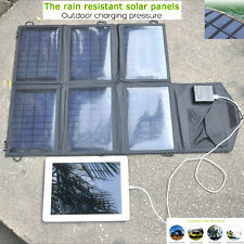 21W 18V Foldable Portable Solar Panel Battery Charger 2 Port USB Power Bank Pack