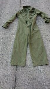 Ladies Or Mens Ex Army Use Green Colour Boilersuit Or Overalls.