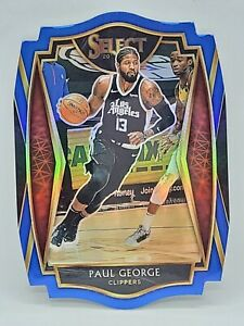 2020-21 Panini Select Basketball - Blue Die Cut 42/249 - PAUL GEORGE - Clippers
