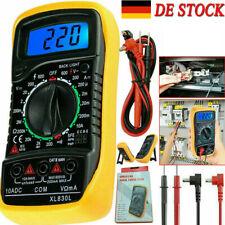 Digital Multimeter Messgerät AC DC LCD Strommesser Strom Voltmeter Amperemeter