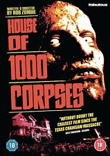 HOUSE OF 1000 CORPSES di Rob Zombie DVD Horror in Inglese NEW .cp