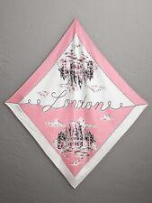 $450 Burberry London Print Silk Square Scarf, Rose Pink