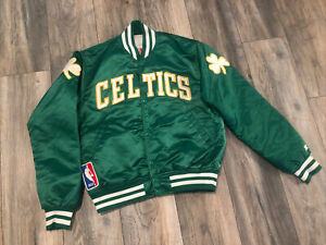 New 80's Boston Celtics Starter Satin Jacket Men's Medium Made in USA