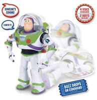 New Large Toy Story 4 Buzz Lightyear with Interactive Drop Down Action