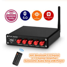 HiFi Bluetooth 5.0 Digital 2.1 Channel Amplifier Subwoofer Audio Amp USB Player