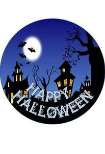 7.5 INCH APPROX 19 CM HALLOWEEN #2 EDIBLE RICE PAPER CAKE TOPPER