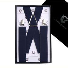 Men's Midnight Blue X3.5cm Braces Suspenders
