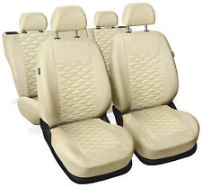 CAR SEAT COVERS  fit Mercedes A Class - beige leatherette Eco leather
