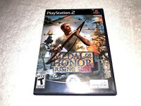 Medal of Honor: Rising Sun (Playstation 2, 2003) PS2 Black Label Complete Exc!