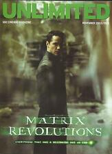 KEANU REEVES   UKmag 2003 MATRIX REVOLUTIONS on set