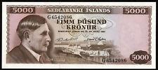 Island / Iceland 5.000 Kronen 1961 Pick 47 (1)
