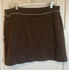 Ralph Lauren Golf Skort Dark Brown Back Pocket Size Large