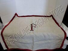 2 Pottery Barn Velvet Edged Linen Bed Sofa Pillow Sham Cover Monogrammed F Euro