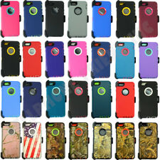 For IPhone 6/ 6s Plus Camo Defender Case Cover w/ Belt Clip & Screen Protector