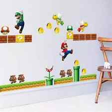 Huge Super Mario Bros Wall Sticker Removable Kids Room Home Decal Art Viny Decor