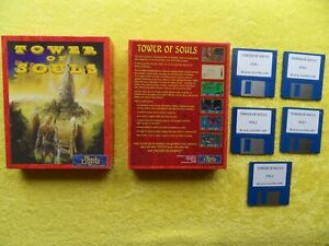 """TOWER OF SOULS - by black legend - commodore amiga 3.5"""" disk"""