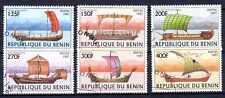Bateaux Bénin (6) série complète de 6 timbres oblitérés