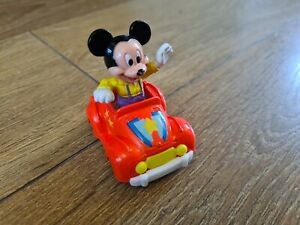 Mattel MICKEYTOWN Metal Car And Mickey Mouse Figure Disney vintage 80s toy