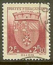 """Francia Sello Stamp N º 559"""" Escudos de Armas Dijon """"Matasellado MB"""