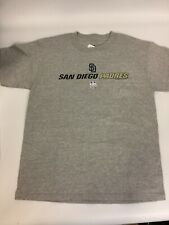 San Diego Padres Shirt Youth Large Gray Genuine Merchandise