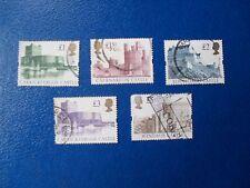 QEII decimal  Castles set 5 ,  fine used.