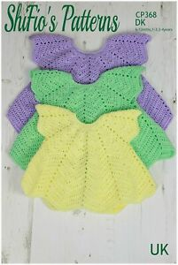 Crochet Pattern for Girls Cardigan, 6-12mths, 1-3 Years, 3-4 Years, DK CP368.