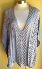 Label + Thread Cable Knit Poncho Size M/L NWOT RRP $299.00
