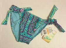 Hobie - Nomad's Land Tribal Sash Tie Side Bikini Swim Bottom - Small AQM