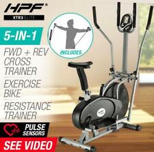 LCD 5in1 Elliptical Cross Trainer & Exercise Bike Equipment Fitness Home Gym