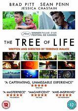 The Tree Of Life Brad Pitt, Sean Penn, Jessica Chastain, Hunter NEW UK R2 DVD