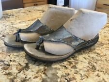 Mephisto Agacia Sandals Flip Flip Shoes Size 38 Silver And Black