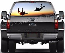 SKYDIVER -Pick-Up Truck Perforated Rear Windows Graphic Decal,  Decal