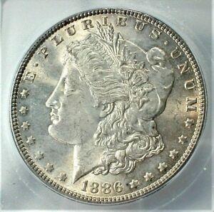 1886 USA Morgan Silver Dollar ICG MS64+ Condition KM#110  (842)