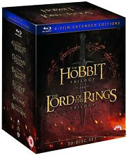 THE LORD OF THE RINGS + THE HOBBIT - MIDDLE EARTH - COMPLETE Extended BLU-RAY UK
