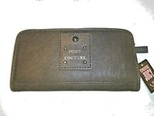JUICY COUTURE LEATHER GRAY SLIM WALLET NWT SUPER CUTE AND VERSATILE