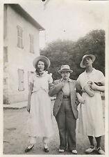 PHOTO ANCIENNE - VINTAGE SNAPSHOT - TRAVESTI HOMME FEMME DÉGUISEMENT MODE 1934
