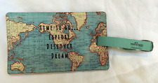 Map of the World Design Luggage Tag - BNWT
