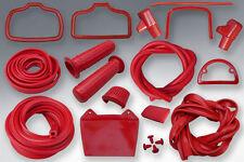 LAMBRETTA RUBBER KIT SERIES 1 & 2 IN RED