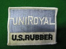 VINTAGE UNIROYAL U.S. RUBBER EMBROIDERED PATCH SEW/IRON (Grubby/dirty)