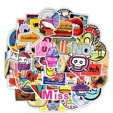 100 pcs Cute Mixed Skateboard Stickers Bright Cartoon Decal Phone JDM Anime Car