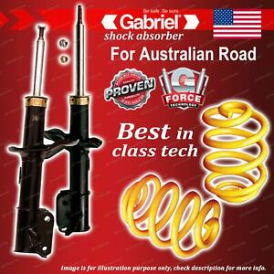 Front Gabriel Ultra Strut Shocks + Lowered King Coil Springs for Holden Viva JF