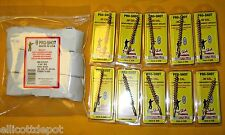 500 GUN CLEANING PATCHES & 10 BORE BRUSHES for .308 30-06 .30 cal rifles
