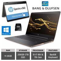 "CONVERTIBLE LAPTOP HP SPECTRE x360 13-15"" i5,i7 TOUCHSCREEN FULL HD to 4K SSD"