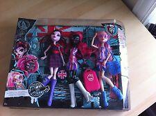Monster High Ghoulebrities In Londoom Dolls - Triple Pack - BNIB - Rare & HTF