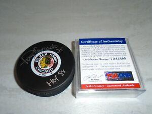 Tony Esposito Signed Chicago Blackhawks Hockey Puck Autographed PSA/DNA COA 1B