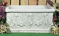 Rectangle Cherub Cupid Angel Fairy Planter Vase Latex Fiberglass Mold Concrete