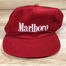 Vintage Marlboro Corduroy Snapback Hat
