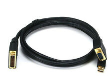 6ft 28AWG DB 15 VGA MALE with USB to M1-D P&D MALE Black Cable for Projectors